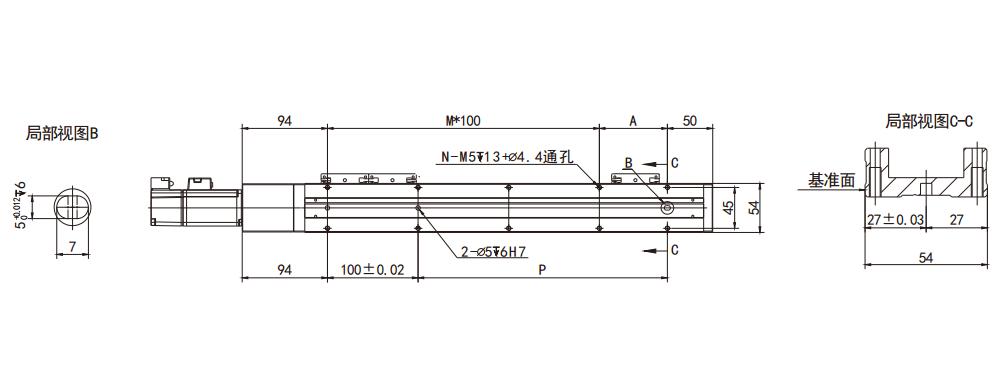 直线模组结构图